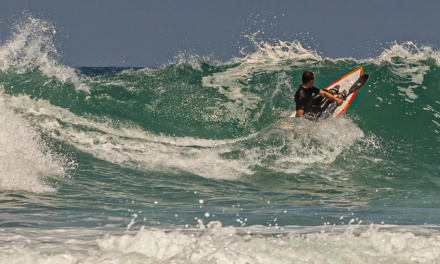 Surf-kayaking